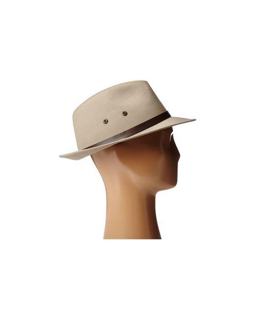 ffede7dfddf ... Stetson - Natural Gable Rain Safari (black) Caps for Men - Lyst ...