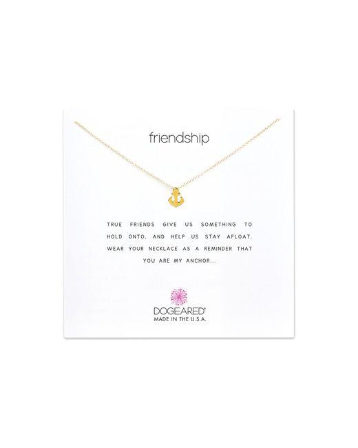 Dogeared | Metallic Friendship Anchor Reminder Necklace | Lyst