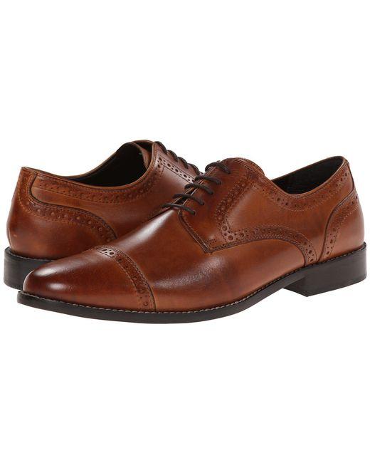 Nunn Bush - Brown Norcross Cap Toe Dress Casual Oxford (black) Men's Lace Up Cap Toe Shoes for Men - Lyst