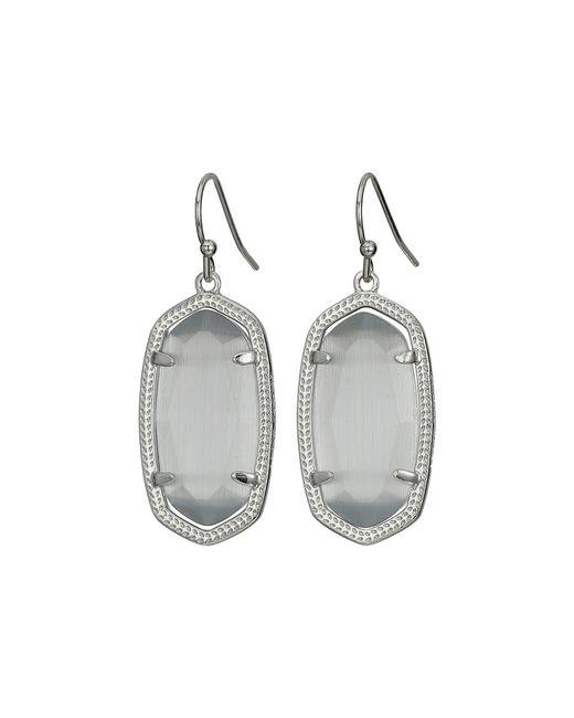 Kendra Scott - Metallic Dani Earrings (rhodium/black) Earring - Lyst