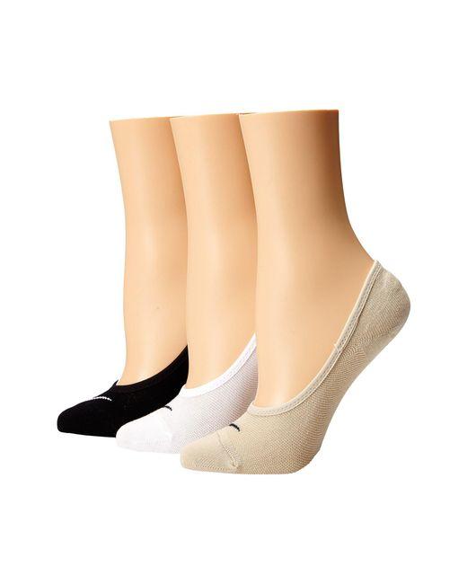 Nike - Multicolor 3 Pair Pack Lightweight Footie (black/white/net/black/white/black) Women's No Show Socks Shoes - Lyst