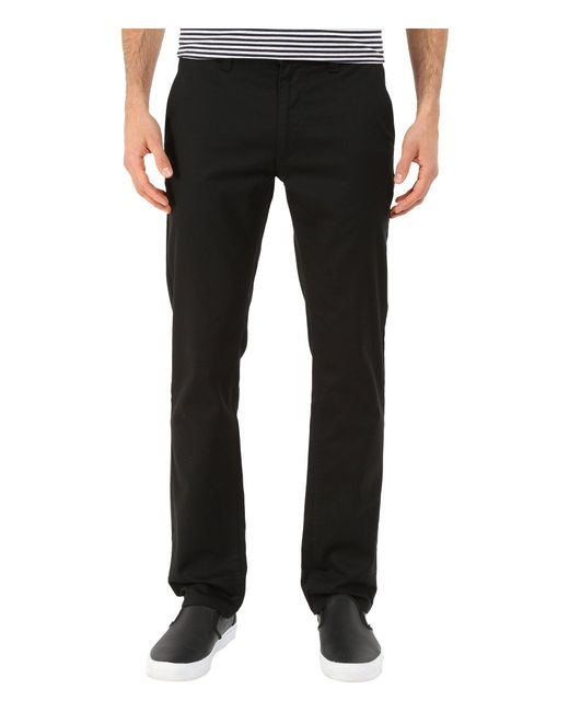 Brixton - Black Reserved Standard Fit Chino Pants (grey Blue) Men's Casual Pants for Men - Lyst