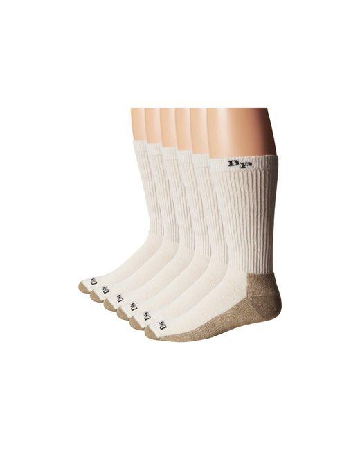 Dan Post - White Work Outdoor Socks Mid Calf Mediumweight Steel Toe 6 Pack (natural) Men's Crew Cut Socks Shoes for Men - Lyst