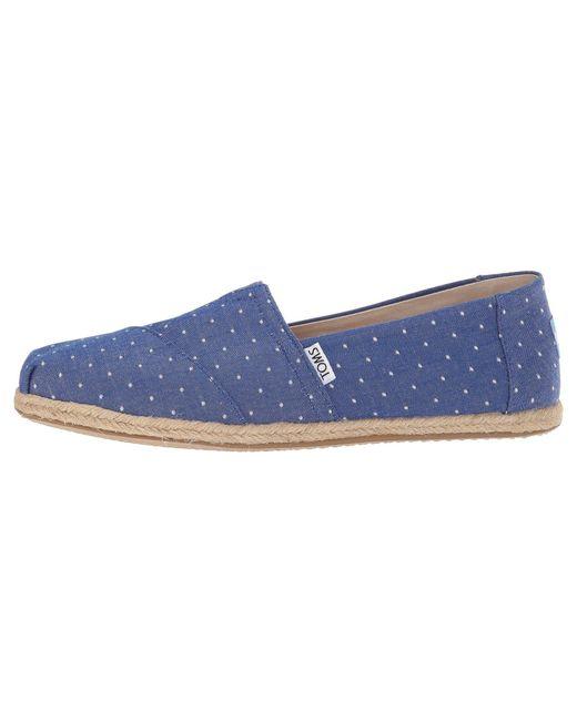 d3abeefc54a1 ... TOMS - Blue Seasonal Classics (black Dot Chambray) Women s Slip On  Shoes ...