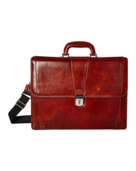 Bosca - Red Double Gusset Brief (amber) Briefcase Bags for Men - Lyst