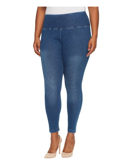 Lyssé - Blue Plus Size Denim Leggings (black) Women's Casual Pants - Lyst