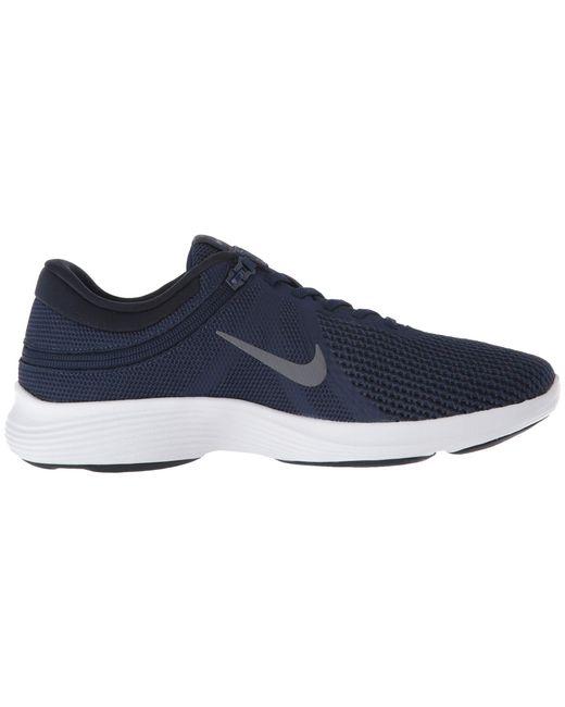 c00bb4fe2142 ... Nike - Revolution 4 Flyease (obsidian Mist blue Lagoon monsoon Blue)  Men s ...