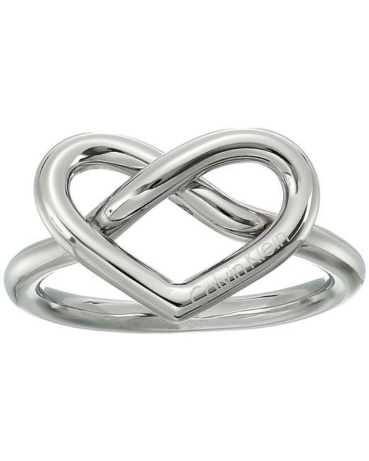 CALVIN KLEIN 205W39NYC - Metallic Charming Ring - Lyst