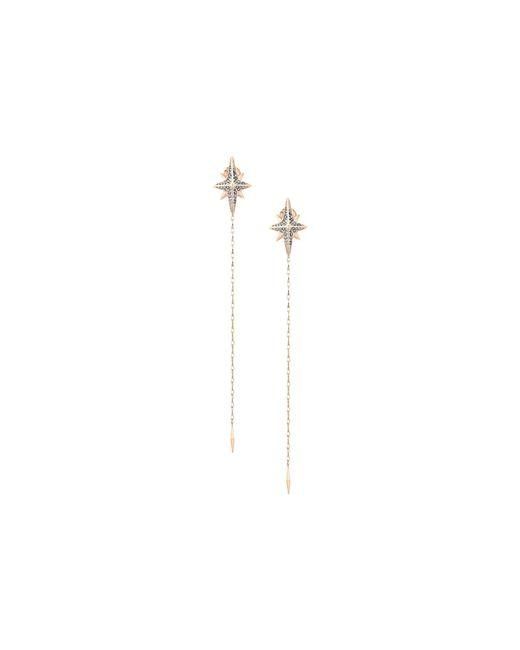 Michael Kors | Metallic Starburst Pave Linear Earrings | Lyst