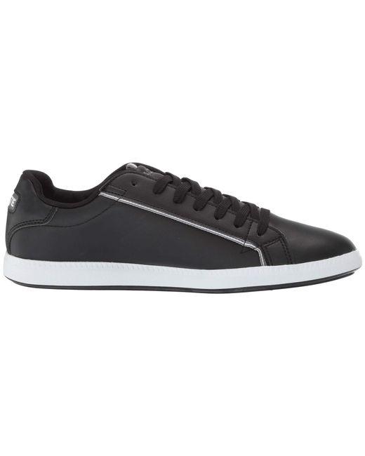 4f21fffee7c55 Lyst - Lacoste Graduate 119 1 Sma (black grey) Men s Shoes in Black ...