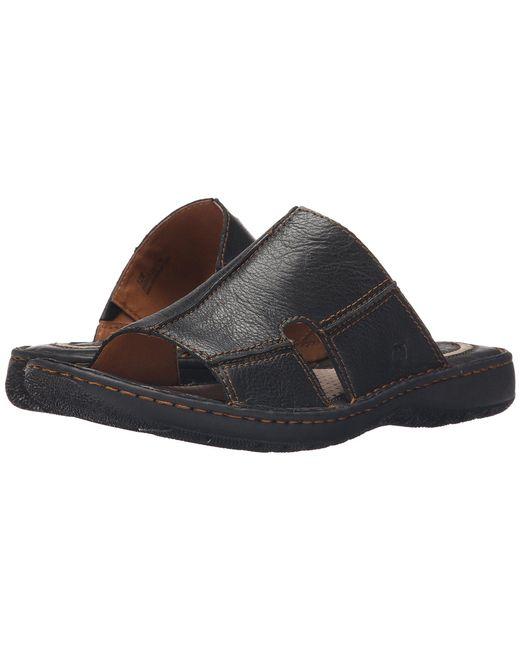 Born - Brown Jared (black Full Grain Leather) Men's Sandals for Men - Lyst