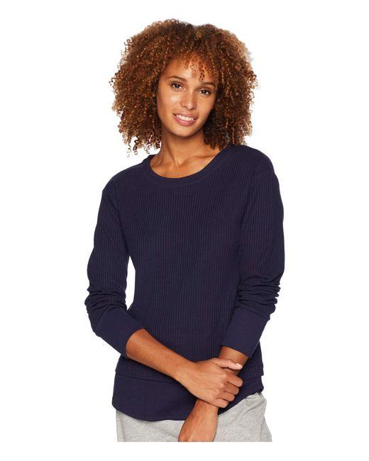 Donna Karan - Blue Long Sleeve Top (black) Women's Pajama - Lyst