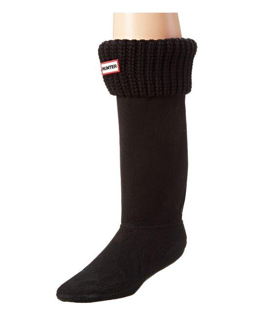 Hunter - Black Half Cardigan Boot Socks (dark Slate) Women's Crew Cut Socks Shoes - Lyst