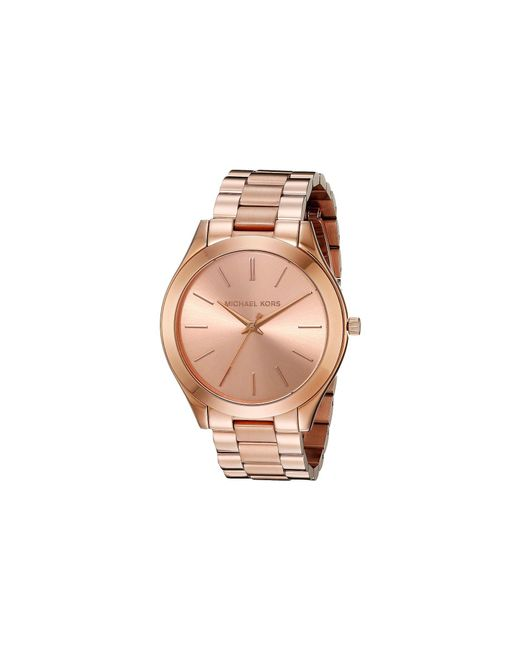 Michael Kors - Pink Mk3197 - Slim Runway (rosegold) Watches - Lyst