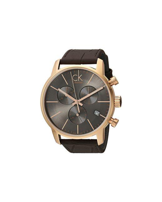Calvin Klein - Gray City Watch - K2g276g3 (cool Grey/brown) Watches - Lyst