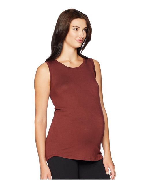 da51d5114d575 ... Beyond Yoga - Red Maternity Balanced Muscle Tank Top (black) Women's  Sleeveless - Lyst