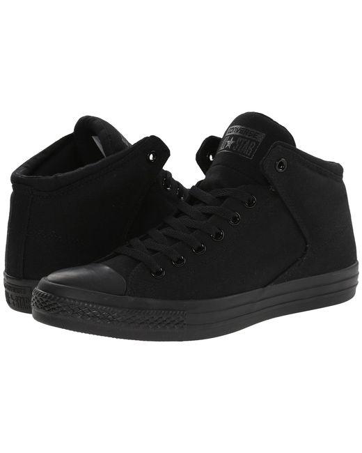 Converse - Chuck Taylor(r) All Star(r) High Street Mono Canvas Hi (black/black/black) Lace Up Casual Shoes - Lyst