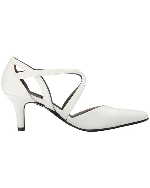 9a28cfd87d4 ... LifeStride - White Seamless (black Vinci) High Heels - Lyst ...