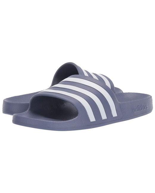 694e45efb1920c Adidas - Blue Adilette Aqua (footwear White core Black footwear White)  Women s ...