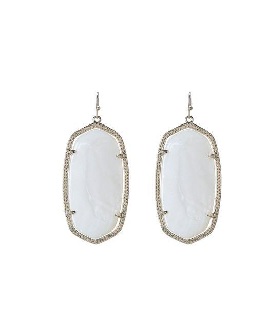 Kendra Scott - White Danielle Earrings (gold/bright Red Opaque Glass) Earring - Lyst
