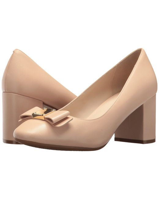 Cole Haan - Natural Tali Bow Detail Pumps - Lyst