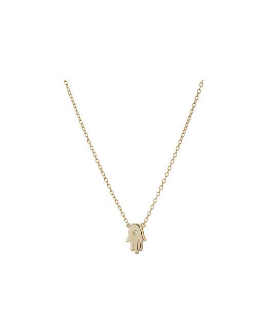 Shashi - Metallic Mini Hamsa Pendant Necklace - Lyst