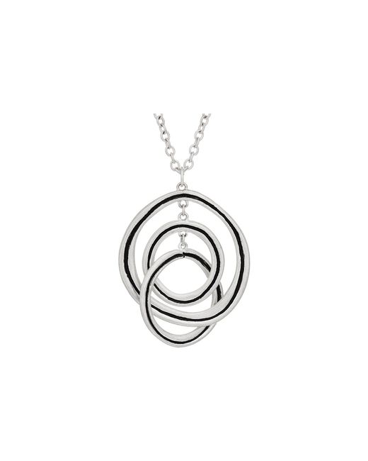 The Sak - Metallic Ribbed Orbit Pendant Necklace 28 (gold) Necklace - Lyst