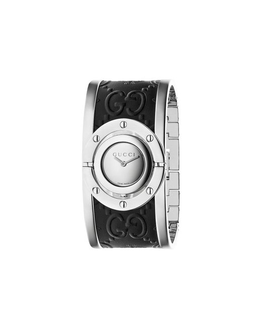 Gucci - Black Twirl Steel Case Cuff - Ya112441 - Lyst