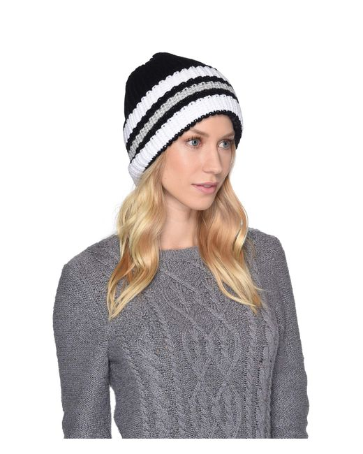 Ugg - Multicolor High Cuff Knit Hat (stone Heather) Caps - Lyst