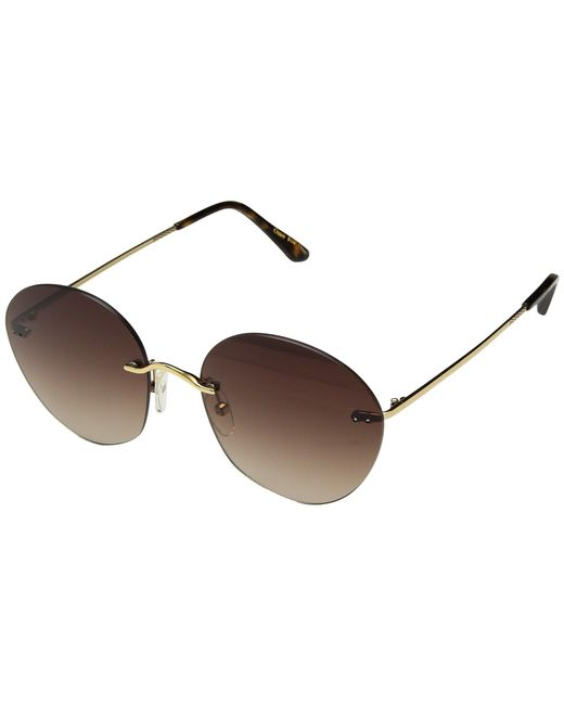 TOMS - Metallic Clara (shiny Gold) Fashion Sunglasses - Lyst