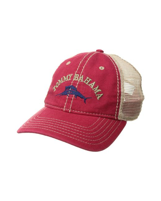 Tommy Bahama - Red Mesh Cap (khaki) Caps for Men - Lyst