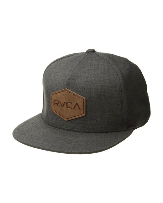 RVCA - Gray Commonwealth Deluxe (charcoal Heather) Caps for Men - Lyst