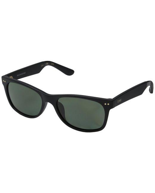 38b9bbeeb78e TOMS - Beachmaster Polarized (matte Black) Fashion Sunglasses - Lyst ...