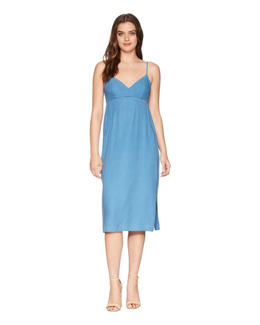 Splendid - Blue Double Layer Cami Dress (black) Women's Dress - Lyst