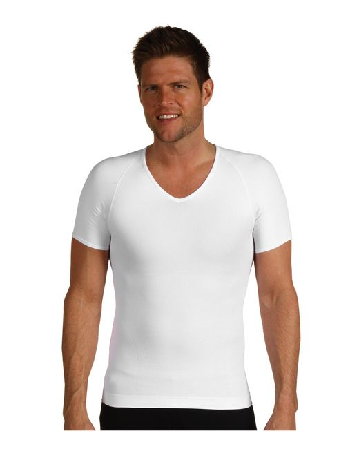 Spanx - White Zoned Performance V-neck for Men - Lyst