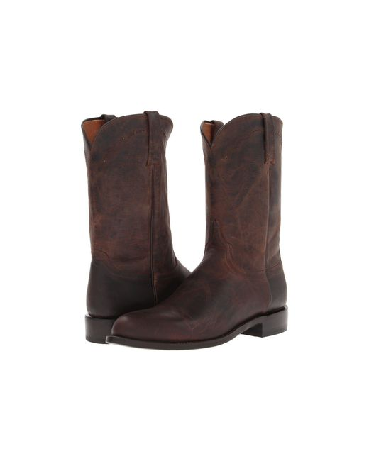 Lucchese - Brown M1018.c2 (chocolate Madras Goat Roper) Cowboy Boots for Men - Lyst