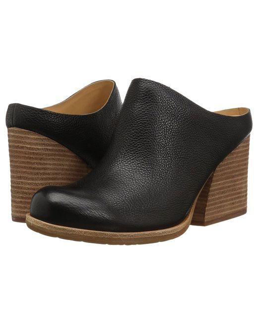 Kork-Ease - Challis (black Full Grain Leather) Women's Clog Shoes - Lyst