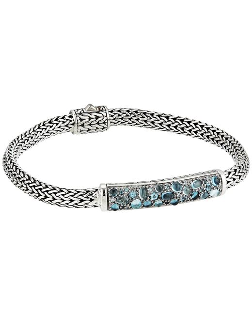 John Hardy - Metallic Classic Chain 5 Mm. Bracelet With London Blue Topaz, Swiss Blue Topaz And Blue Zircon (silver) Bracelet - Lyst