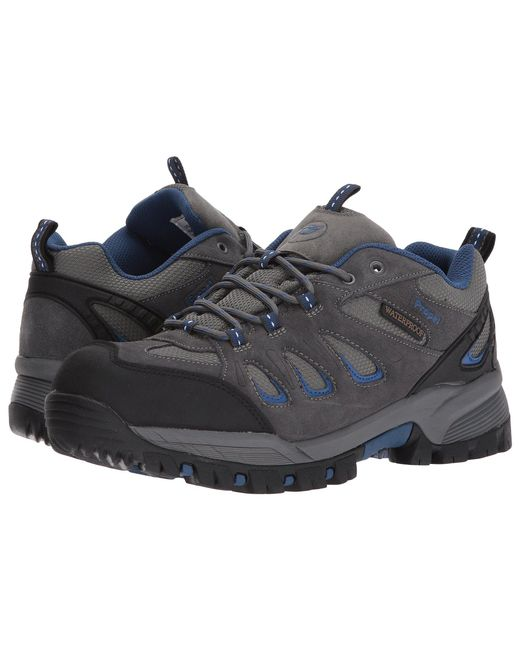 Propet - Gray Ridge Walker Low (black) Men's Lace Up Casual Shoes for Men - Lyst