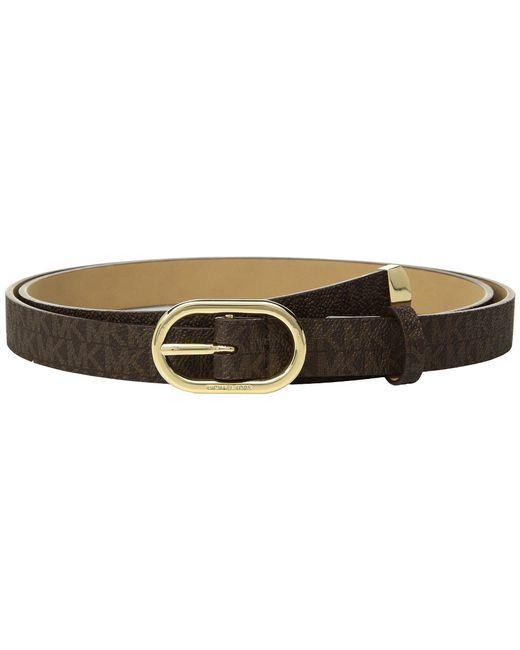 MICHAEL Michael Kors - Brown Logo Pvc Belt (chocolate) Women's Belts - Lyst