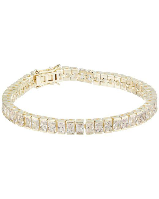 Shashi - Metallic Isabella Tennis Clasp (yellow Gold) Bracelet - Lyst