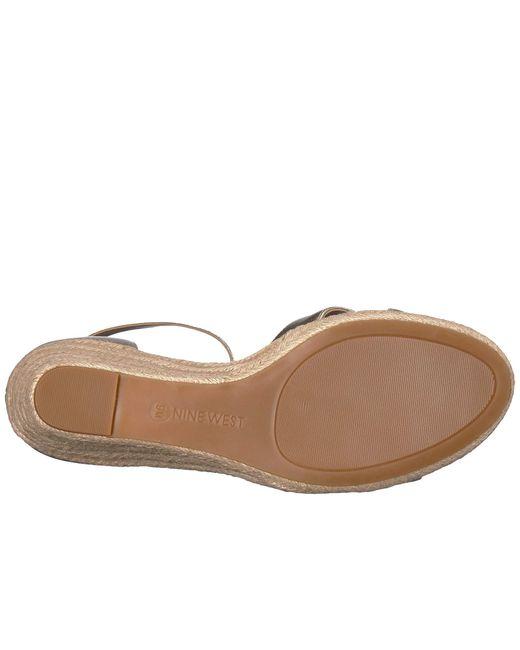 fe6a60ad404 ... Nine West - Metallic Jabrina Espadrille Wedge Sandal (black) Women s  Shoes ...