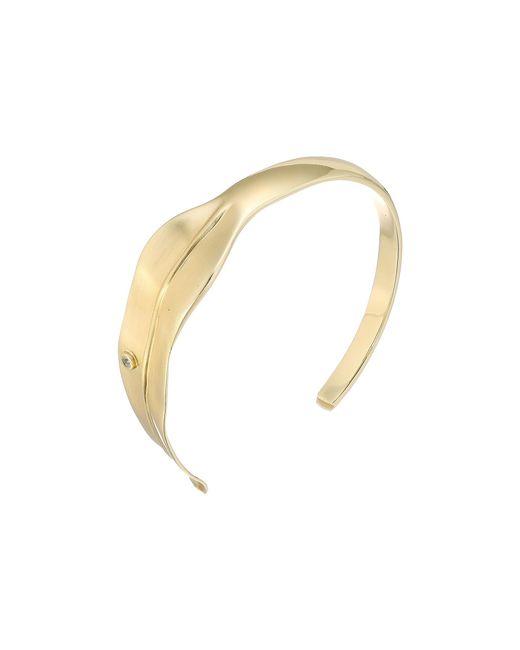 Elizabeth and James | Metallic Sage Cuff Bracelet | Lyst