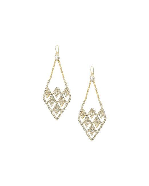 Alexis Bittar | Metallic Crystal Encrusted Spiked Lattice Wire Earrings | Lyst
