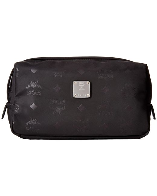 MCM | Black Dieter Monogrammed Nylon Small Cosmetic Pouch | Lyst
