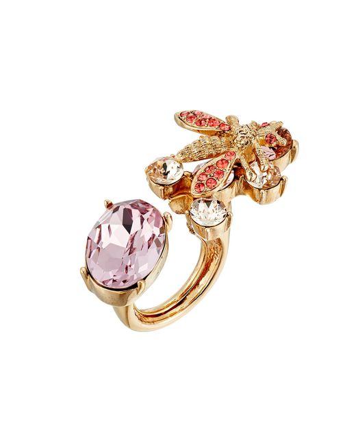Oscar de la Renta | Metallic Crystal Bee Ring | Lyst
