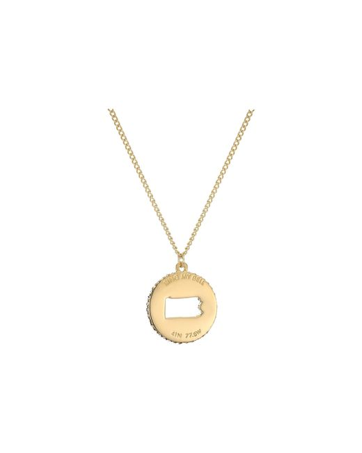 Kate Spade | Metallic State Of Mind Pennsylvania Pendant Necklace | Lyst