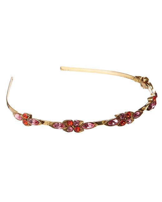 Oscar de la Renta | Multicolor Teardrop Framed Crystal Headband | Lyst