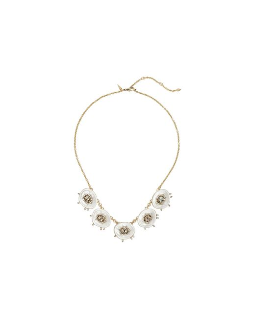 Alexis Bittar | Metallic Crystal And Stone Studded Small Liquid Silk Bib Necklace | Lyst
