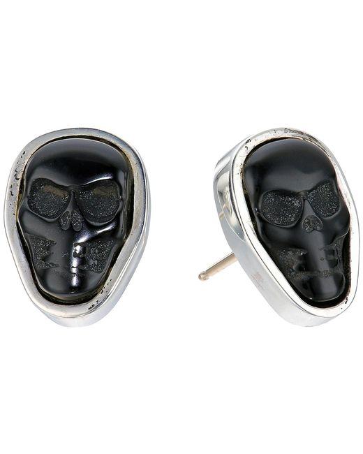 King Baby Studio   Multicolor Obsidian Skull Stud Earrings   Lyst